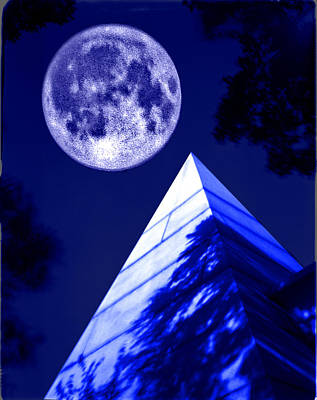 Stellar Interstellar - Moon over Pyramid by Lonnie Paulson