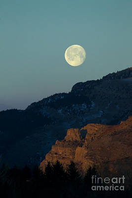 Outerspace Patenets Rights Managed Images - Moon Over Rattlesnake Mountain    #2779 Royalty-Free Image by J L Woody Wooden