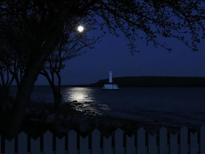 Photograph - Moon Over Round Island Passage by Keith Stokes