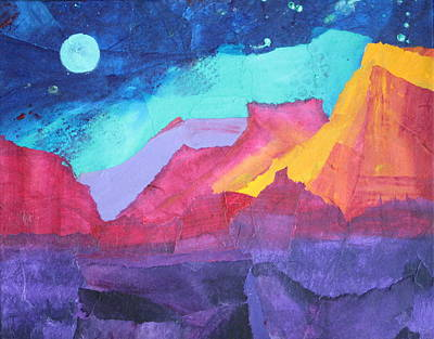 Moon Over Sedona Art Print