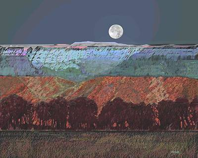 Moon Over Southern Utah Print by Roger Bushman