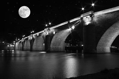 Photograph - Moon Over The Alte Brucke by Morgan Wright