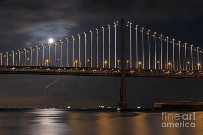 Kids Alphabet - Moon over the Bay Bridge by Kate Brown