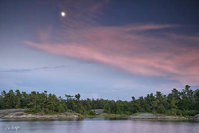Moon Over The Bay Art Print by Phill Doherty