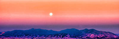 Digital Art - Moon Over The Oquirrh Mountains by Kayta Kobayashi