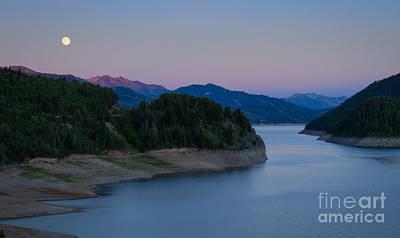 Latidude Image - Moon over the Palisades by Idaho Scenic Images Linda Lantzy
