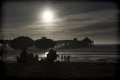 Digital Art - Moon Over The Pier by Photographic Art by Russel Ray Photos