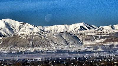 Photograph - Moon Over The Snow Covered Mountains by Susan Garren