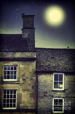 Photograph - Moon Over Townhouses by Jill Battaglia