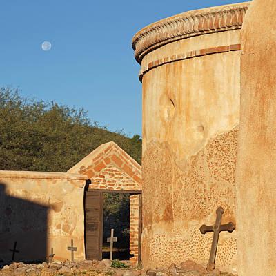 Photograph - Moon Over Tumacacori Mortuary-sq by Tom Daniel