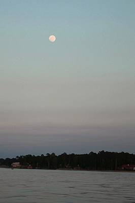 Photograph - Moon Over Lake  by Ellen O'Reilly