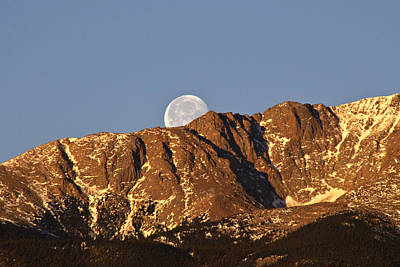 Janet Smith Photograph - Moon Peak by Janet Smith