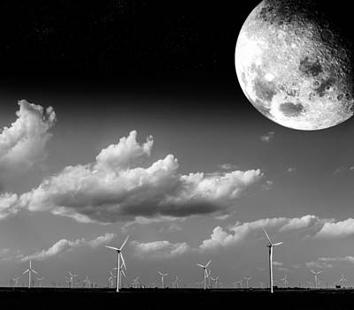 Moon Power Art Print by Semmick Photo