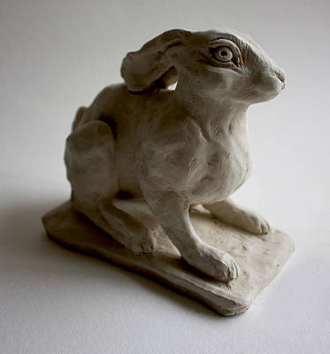 Moon Rabbit Art Print by Derrick Higgins