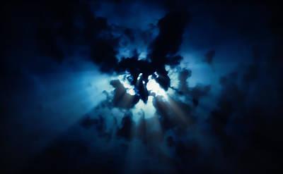 Photograph - Moon Rays by Lars Lentz