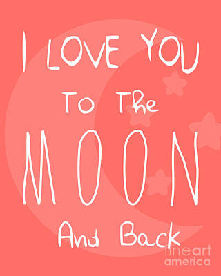 Typographic Photograph - Moon Red by Pati Photography