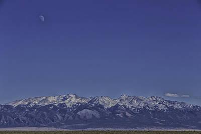 Audrey Hepburn - Moon Rise above Mount Blanca by Zane Isaac