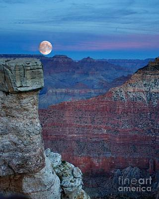 Photograph - Moon Rise Grand Canyon by Patrick Witz