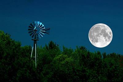 Moon Risen Art Print by Randy Pollard