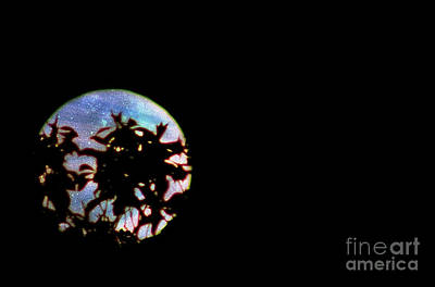 Print featuring the photograph Moon Rising by Leslie Hunziker