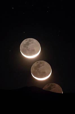 Moon Rising Of The Atacama Desert Art Print by Babak Tafreshi