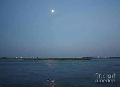 Photograph - Moon Rising Over Freeport by John Telfer