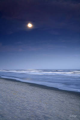 Moon Rising Over Hilton Head Art Print by Phill Doherty