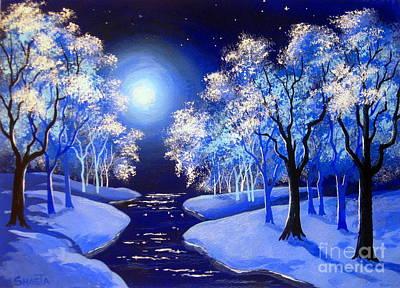 Disney Artist Painting - Moon  River . by Shasta Eone