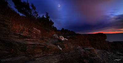 Narragansett Photograph - Moon Serenade by Lourry Legarde