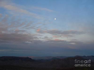 Photograph - Moon Set Sun Rise by Audrey Van Tassell