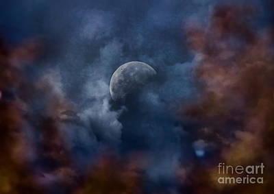 Moon Shine Art Print by Andrea Kollo