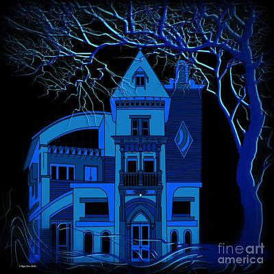 Digital Art - Moon Shine Blues by Megan Dirsa-DuBois