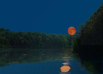 Photograph - Moon Shot by R B Harper