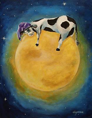 mOOn Snooze Art Print by Dyanne Parker
