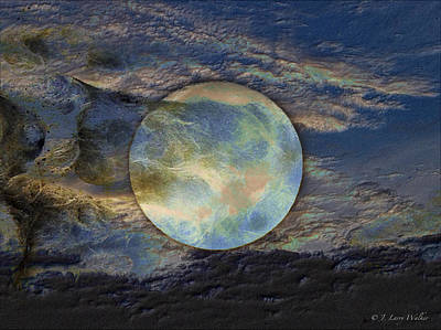 Digital Art - Moon Theatrics by J Larry Walker