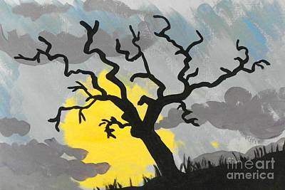 Art Print featuring the painting Moon Tree by Marisela Mungia