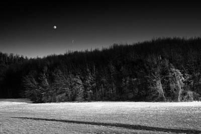 Photograph - Moon upon Nure valley by Claudio Rancati
