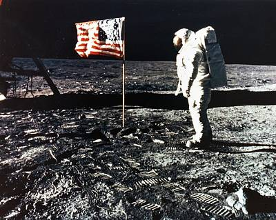 Aldrin Photograph - Moon Walk by Retro Images Archive