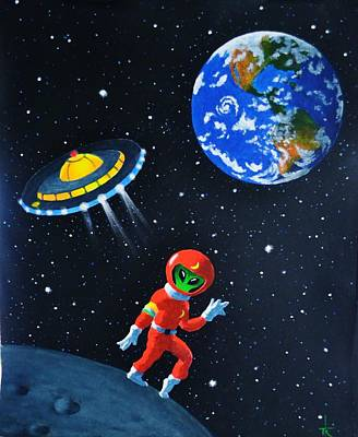 Painting - Moon Walk by Thomas Kolendra