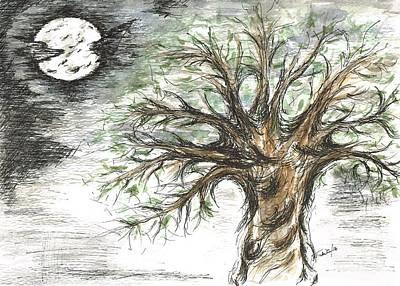 Moon Whisper  Art Print