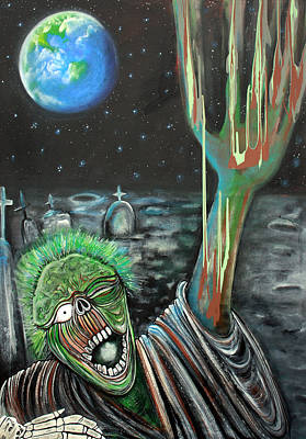 Moon Painting - Moon Zombie by Laura Barbosa