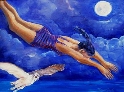 Moonbather  Original by Trudi Doyle
