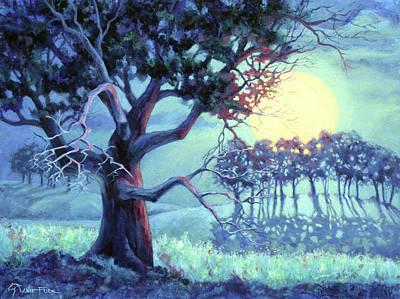 Wall Art - Painting - Moonbeam Dreams by Lanie Frick