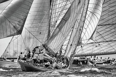 Yachts Wall Art - Photograph - Moonbeams Crossing by Marc Pelissier