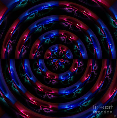 Past Twilight Digital Art - Moonchild Roundel by Neil Finnemore