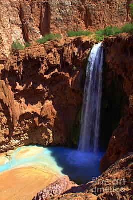 Photograph - Mooney Falls 1 by Jim McCain