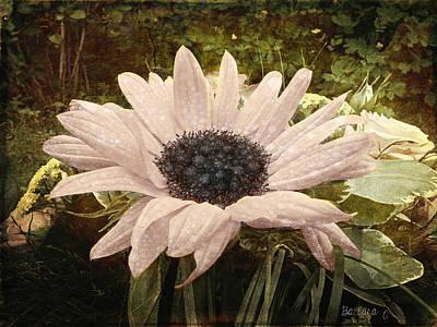 Art Print featuring the digital art Moonflower by Barbara Orenya