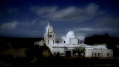San Xavier Digital Art - Moonglow Mission by Lisa Van Alstyne