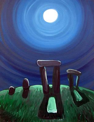 Henge Painting - Moonhenge by Brian Orion