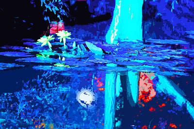 Moonlight And Lilies Original